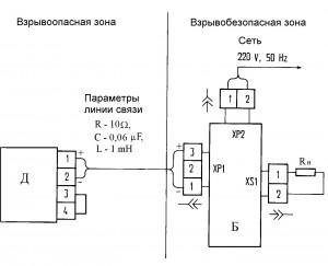 Приложение 5. Схема электрическая подключения датчика с блоком БПС-90