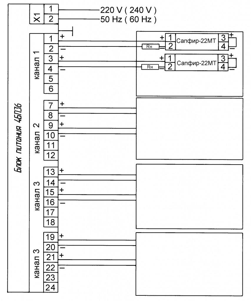 Приложение 8. Схема соединений датчика САПФИР-22МТ 2