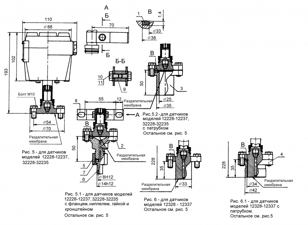 Рис. 5 для датчиков моделей 12030-12037