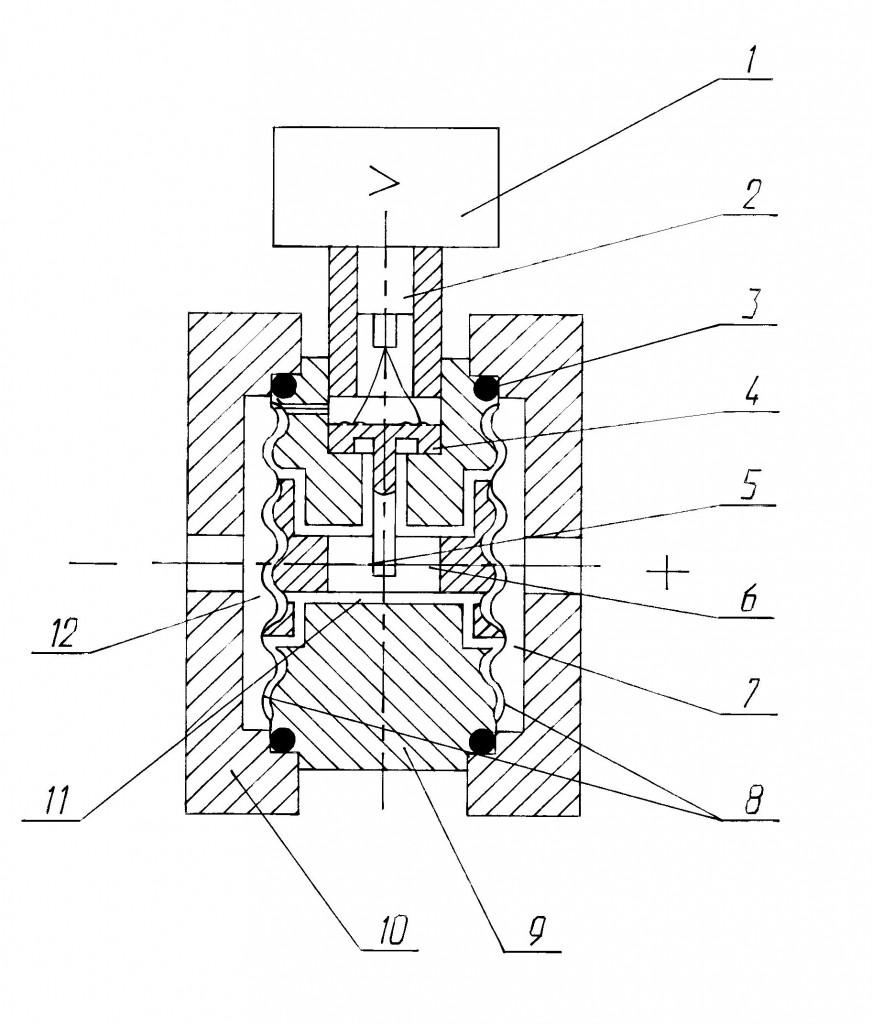 Схема датчика САПФИР-22МТ (кроме мод. 2450, 2460)