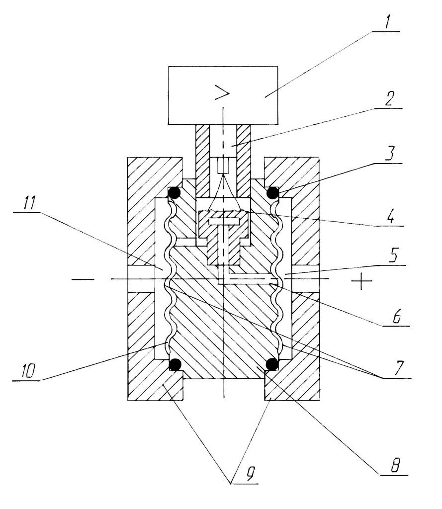 Схема датчика САПФИР-22МТ моделей 2450, 2460