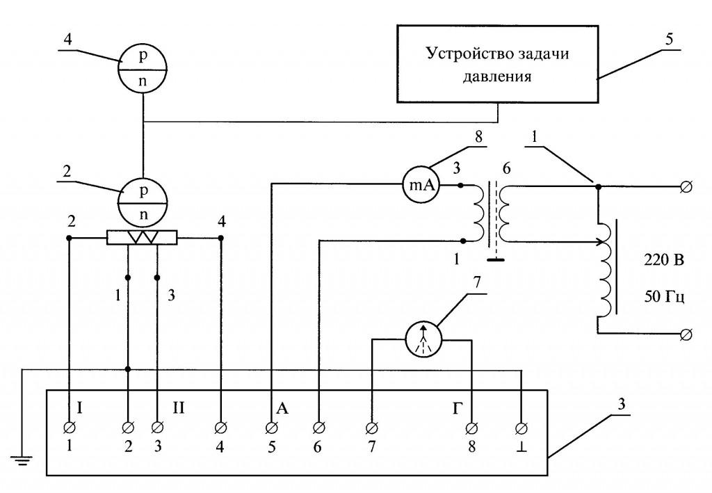 Схема электрическая подключения для проверки характеристик по магазину комплексной взаимной индуктивности