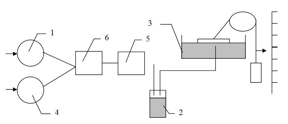 Схема для определения суммы двух горючих компонентов