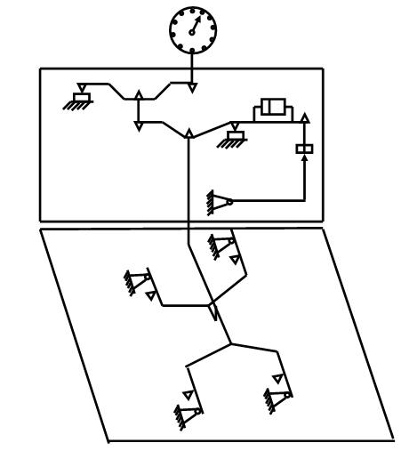 Схема циферблатных весов со встроеным грузом
