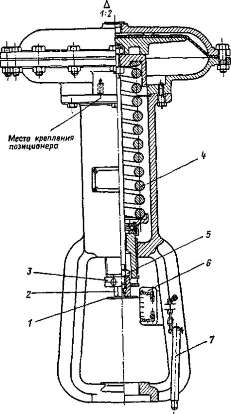 Мембрано исполнительный механизм клапана
