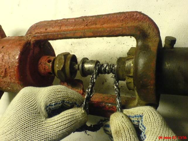 Ремонт клапана набивка сальника