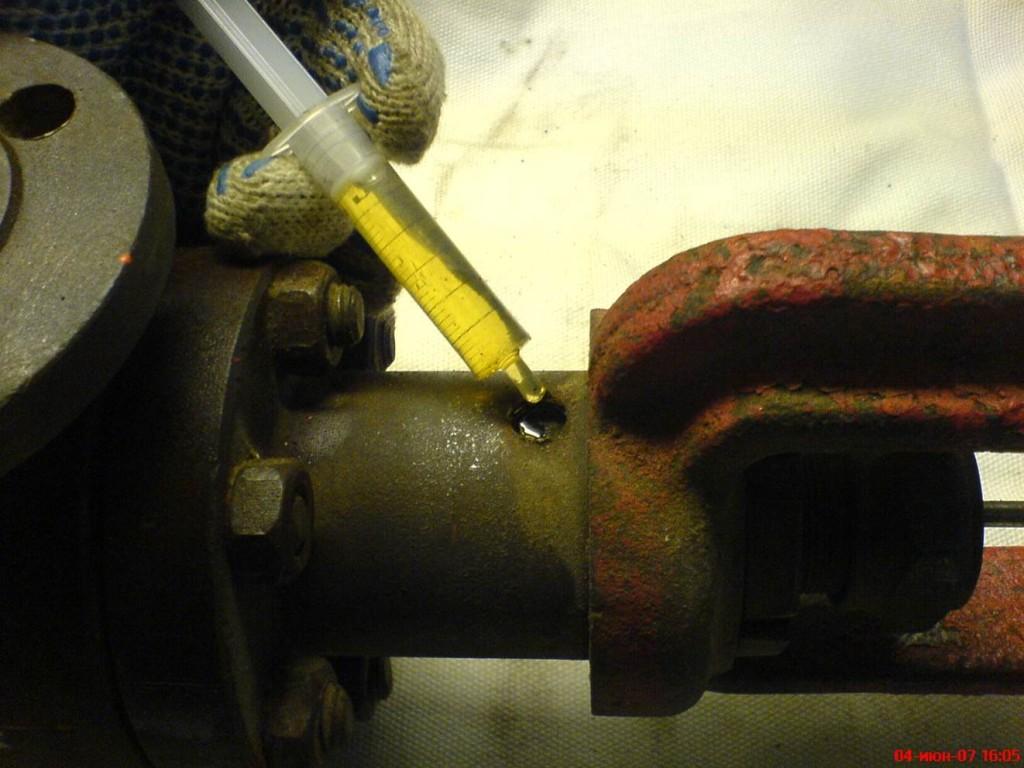 Ремонт клапана смазка сальникового устройства